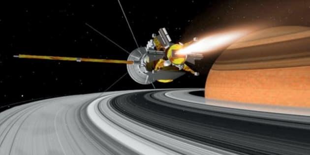La sonde Casini de la Nasa entame son chant du cygne, qui va finir dans l'atmosphère de Saturne.