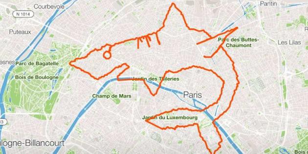 La triathlète Marine Leleu avait réalisé un requin en parcourant les rues de Paris en octobre dernier.