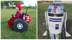 Ces parents ont imaginé de superbes costumes d'Halloween pour leur enfant en fauteuil