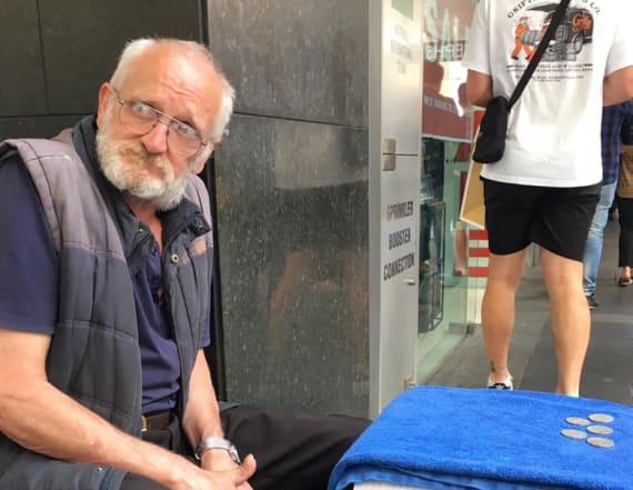 Homeless Australian man reunited with pet rat