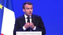 Macron annonce de nouveaux examens dentaires à 3 et 24