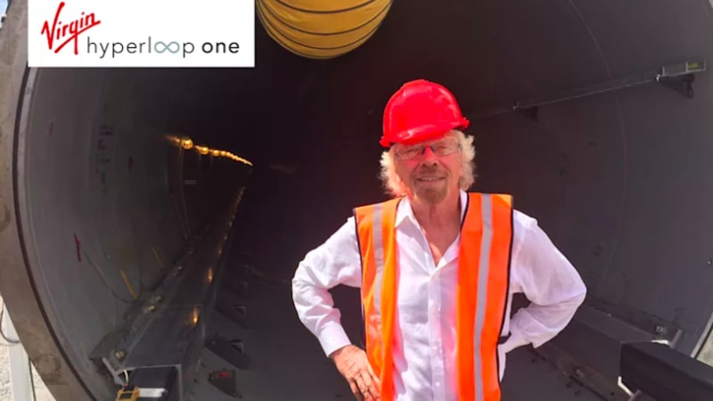 photo image Richard Branson's investment spawns Virgin Hyperloop One