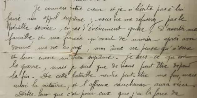 Lettre d'un poilu, Jean Soulagnes, à son ami Jean Audiffren, le 27 mai 1915.