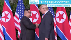 米朝首脳会談で両首脳ががっちり握手、元外交官・原田武夫氏「日本は厳しい局面」