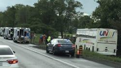 Un mort et 4 blessés graves dans un accident d'autocar en
