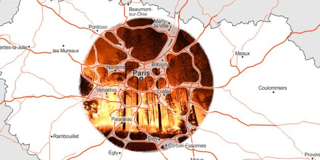 Trois comparaisons avec la France qui permettent de se rendre compte de l'ampleur des incendies en Californie