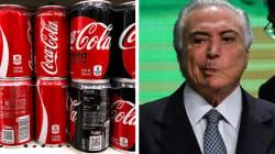 'Um irresponsável': Associação critica Temer após ceder à Coca-Cola e aumentar
