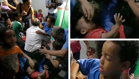 Quem é você na foto da queda de Alckmin com as crianças na creche do