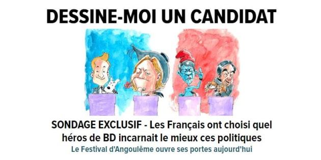 """Toutes les unes du """"HuffPost"""" illustrées en dessins pour l'ouverture du Festival d'Angoulême"""