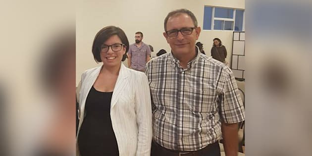 Niki Ashton and Nazih Khatatba at a Mississauga, Ont. fundraiser earlier this month.