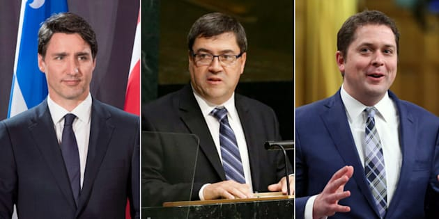 Prime Minister Justin Trudeau's national security adviser Daniel Jean, centre, has been the focus of question period debate for the past two weeks. Conservative Leader Andrew Scheer wants the Liberals to send Jean before a Parliamentary committee.