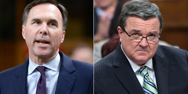Finance Minister Bill Morneau says he was not aware that the Working Income Tax Benefit was a nod to the riding of the late Jim Flaherty.