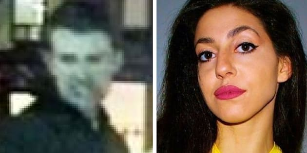 Toronto police's suspect in the death of Tess Richey, left, is seen in a police surveillance photo. Richey, right, disappeared after a night out in Toronto in November.