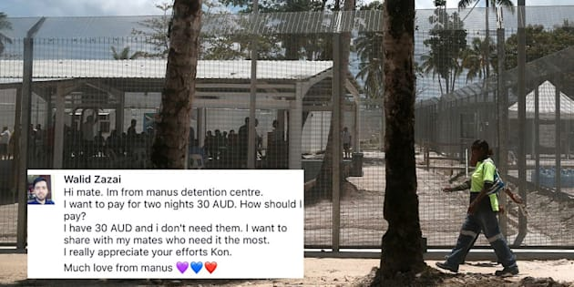 The Manus Island centre, where Walid remains.