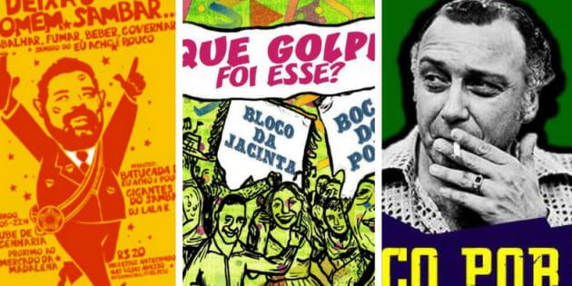 Blocos de carnaval saldam ex-presidente, ativista feminista e vão parar na Justiça por homenagear a ditadura.