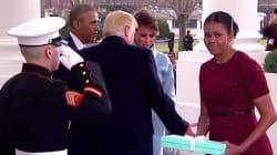 Michelle Obama explique pourquoi elle a fait une tête bizarre en recevant le cadeau de Melania