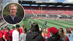 Ottawa Football Fans Have To Tell Drunk Guy To Put Down The