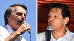 Bolsonaro e Haddad estão empatados no 2º turno, aponta