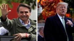 Bolsonaro agradece apoio de Trump: 'Vamos nos aproximar sem viés