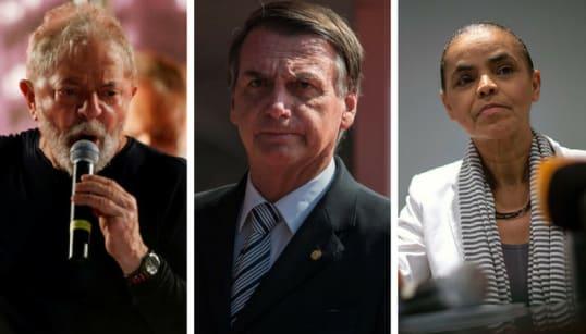 Lula declara R$ 7,9 milhões em bens, Bolsonaro R$ 2,3 milhões e Marina, R$ 118