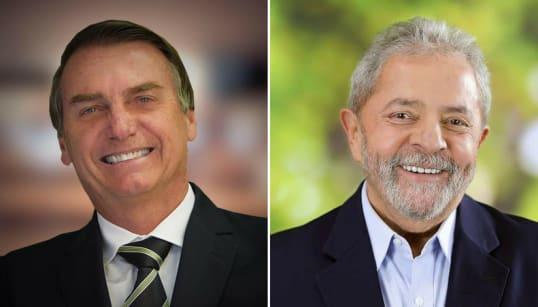 Os líderes são os mais rejeitados: 37% não votam em Bolsonaro e 30%, em