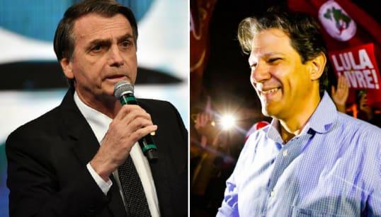 No 2º turno Bolsonaro ganha apenas de Haddad, aponta