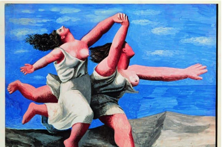 Deux femmes courant sur la plage (La course) [Due donne che corrono sulla la spiaggia (La corsa)], 1922Gouache su tavola, 32,5 x 41,1 cmParigi, Musée National Picasso-Paris, Dation Pablo Picasso, 1979