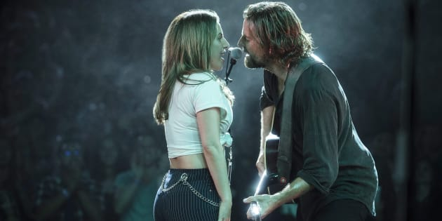 "Lady Gaga and Bradley Cooper in ""A Star is Born,"" a movie that's likely to inspire many Halloween costumes this year."