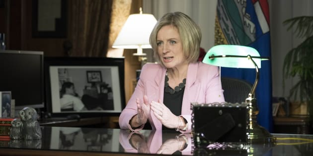 Alberta Premier Rachel Notley announces a mandatory cut in oil production.