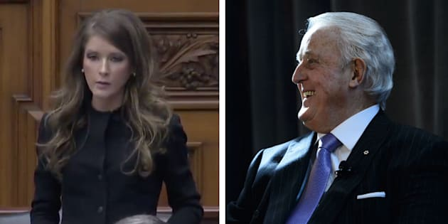 """Ontario MPP Amanda Simard says former prime minister Brian Mulroney's comments about her """"belong to another era."""""""