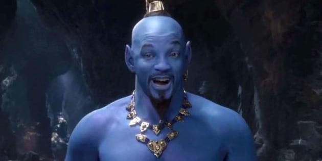 Dévoilé lors des Grammys, le nouveau teaser d'Aladdin met en scène un Génie bien trop bleu selon les internautes.