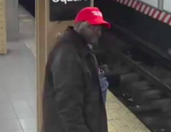 Man in MAGA hat allegedly pushed immigrant on tracks