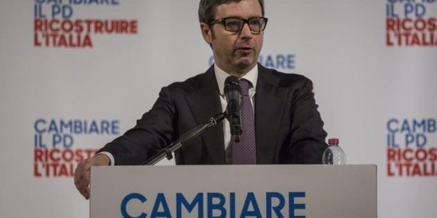 """12/03/2017 Roma. Incontro """"Cambiare il PD, Ricostruire l'Italia"""". Nella foto Il ministro Andrea Orlando"""