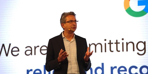 Rajan Anandan, Google's vice-president for South East Asia and India, speaking at Google For India in Delhi.