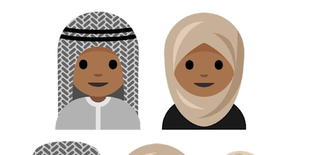 A depiction of the potential hijab emoji.