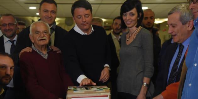 24/03/2017 Firenze, Matteo Renzi vota per le primarie del Partito Democratico