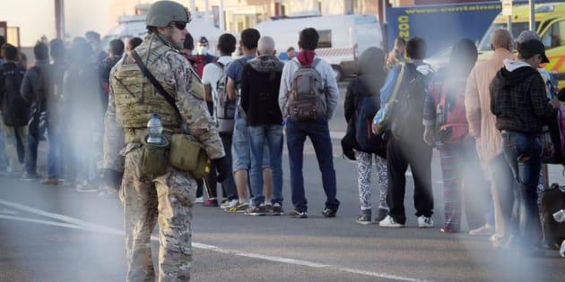 Beremend, confine tra la Croazia e l'Ungheria. Dal 2015 centinaia di migranti hanno attraversato il confine sotto gli occhi dei soldati ungheresi, per poi esser portati in autobus alla stazione di Magiarboly e prendere i treni diretti in Austria.