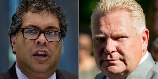 Calgary Mayor Naheed Nenshi says Ontario Premier Doug Ford's plan to cut down the number of city councillors in Toronto is not fair.