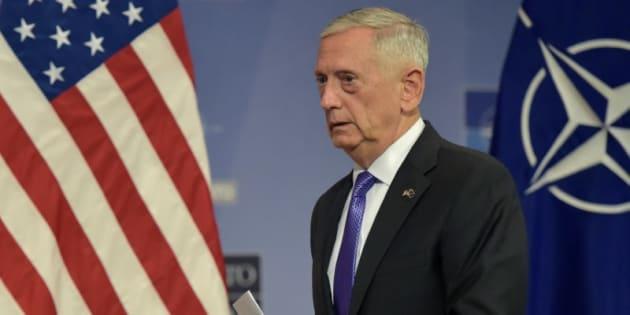 El secretario de Defensa de EEUU, Jim Mattis, tras una conferencia de prensa en un encuentro de la OTAN en Bruselas, el pasado 29 de junio.