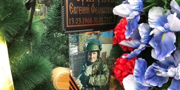 Retrato del contratista privadoYevgeni Chuprunov en su tumba, situada en Novomoskovsk (región de Tula, Rusia), fotografiada el pasado junio.