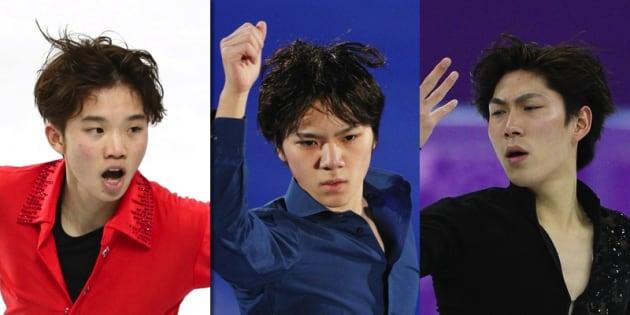 左から友野、田中、宇野の3選手