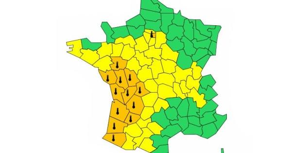 Seize départements, dont Paris et la petite couronne, placés en alerte orange canicule