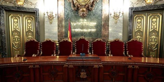 Vista de la Presidencia de la Sala Penal del Tribunal Supremo en la que tendrá lugar el juicio del procés.