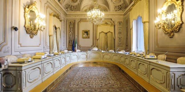 24/01/2017 Roma, Corte Costituzionale, seduta pubblica sulla costituzionalità della legge elettorale, nella foto
