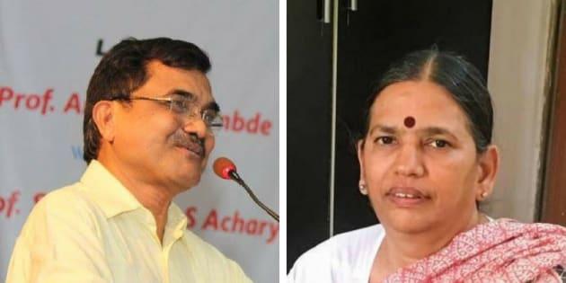 (From left) Anand Teltumbde and Sudha Bharadwaj.