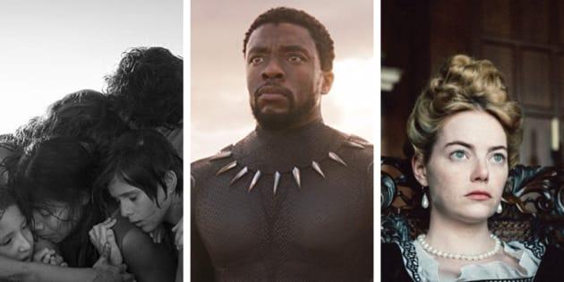 """""""Roma"""", """"Pantera Negra"""" e """"A Favorita"""" fazem parte de nossa seleção dos 10 melhores filmes de 2018."""