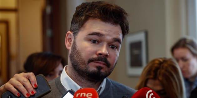 El portavoz de ERC, Gabriel Rufián. EFE/Archivo