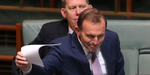 Tony Abbott rose in parliament to ask a question on trade