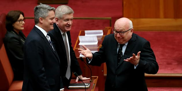 Attorney-General George Brandis says he does not want to confuse the issue of donations