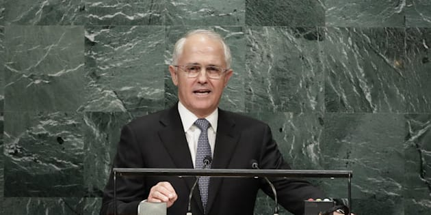 Prime Minister Malcolm Turnbull speaks during the 71st session of the United Nations General Assembly